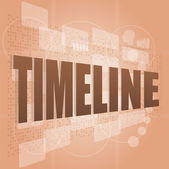 Words time line on digital screen, business time concept — Stock Photo