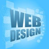 Words web design on digital screen, business concept — Stockfoto
