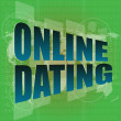 Stock Photo: Online dating computer key showing romance and love - digital screen