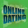 Online dating computer key showing romance and love - digital screen — Stock Photo