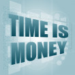 Words Time is money on digital screen, time concept — Stock Photo #14842421