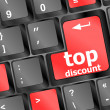Stock Photo: Top discount concept sign on computer key