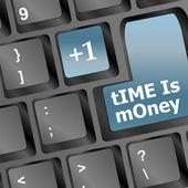 Tempo è soldi keys mostrando ore, concetto di business — Foto Stock