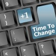 Time to change key on keyboard showing time concept — Stock Photo