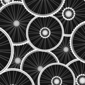 Bicycle wheels pattern - sports background — Stock Photo
