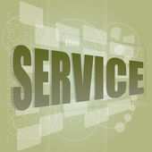 Words service on digital screen, business concept — Stock Photo