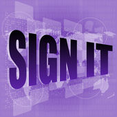 Words sign it on digital screen, business concept — Stock Photo