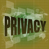 Privacy word on digital screen, security concept — Stock Photo