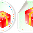 Presents sticker red set - holiday concept - Foto Stock