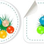 Christmas ball sticker set — Stock Photo
