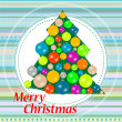 Christmas or new year tree with balls on abstract background — Foto de Stock
