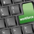 图库照片: Workforce keys on keyboard - business concept