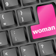 Royalty-Free Stock Photo: Woman word on keyboard button
