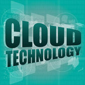 Words cloud technology on digital screen, information concept — Stock Photo