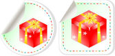 Presents sticker red set - holiday concept — Stockfoto