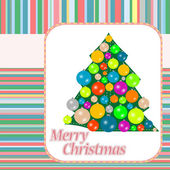 Christmas (new year) tree on vintage background — Stock Photo