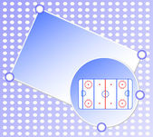 Ice hockey field on blue greetings card - sports background — Stock Photo