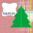 Christmas tree decoration on abstract vintage background — Stock Photo #15374141