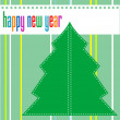 Merry christmas and happy new year tree on green background — Stock Photo