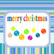 Merry christmas festive background with new year balls — Stock Photo #15375311