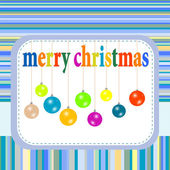 Merry christmas festive background with new year balls — Stock Photo