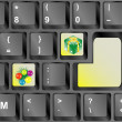 Royalty-Free Stock Photo: Computer keyboard with Christmas keys - holiday concept