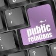 Royalty-Free Stock Photo: Computer keyboard with public relations pr button