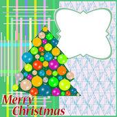 抽象的な背景にクリスマス ツリーと挨拶 — ストック写真
