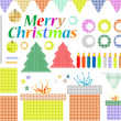 Set of christmas elements, labels, frames, badge, stickers — Stock Photo