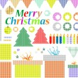 Stock Photo: Set of christmas elements, labels, frames, badge, stickers
