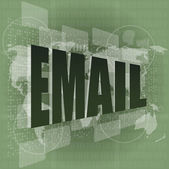 Business concept: pixelated words email on digital screen — Stock Photo