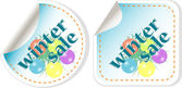 Christmas balls stickers set - discount label — Stock Photo