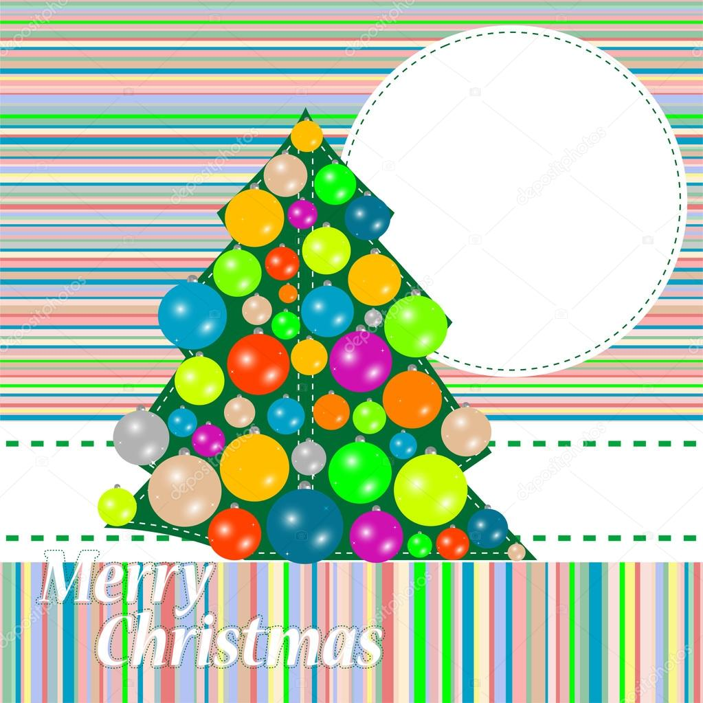 Christmas and New Year tree. holiday background   #15803031