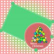 Christmas background with balls and christmas tree — Stock Photo