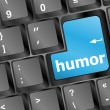 Stock Photo: Keyboard with humor word
