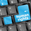 Arrow button with human rights word - Stock Photo