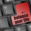 Royalty-Free Stock Photo: Balance your life button on computer keyboard