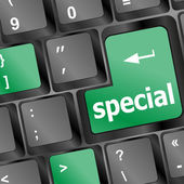 Special button on laptop keyboard — Stock Photo