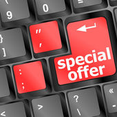 Special offer button on computer keyboard — Stock Photo