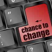 Možnost změnit klávesu na klávesnici ukazuje úspěch v podnikání — Stock fotografie