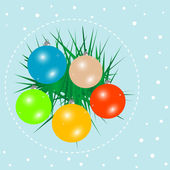 Merry christmas and happy new year balls on background — Stock Photo