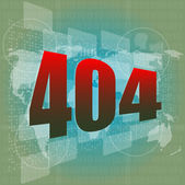 Internet concept: nuumber 404 on digital screen — Stock Photo