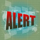 Alert word on digital screen — Stock Photo