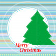 Christmas greetings card with abstract background — Stock Photo