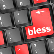 Bless keyboard button on computer pc - Foto Stock