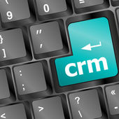 Crm keyboard button on computer pc — Foto Stock