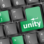 Unity key on computer pc keyboard — Stock Photo