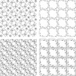 Set of monochrome geometric seamless patterns. background collection — Stock Photo