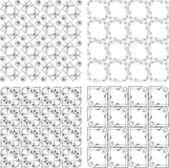 Set of monochrome geometric seamless patterns. background collection — Stock Photo