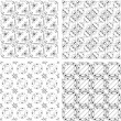 Royalty-Free Stock Photo: Set of monochrome geometric seamless patterns. background collection